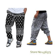 size xxxl fashion street loose style mens hip hop bandana pants