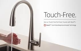 akram single touchless kitchen faucet kitchen touch kitchen faucet astonishing delta one touch kitchen