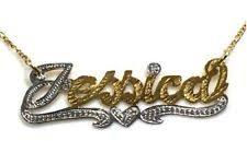 14k Gold Name Necklace 14k Gold Name Plate Ebay