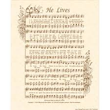 he lives hymn etsy