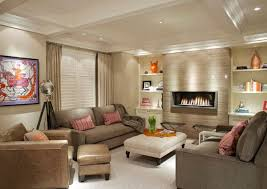 Simple  Modern Living Room Design With Fireplace Decorating - Living room designs with fireplace