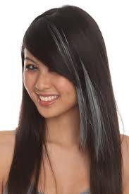 dark hair with grey streaks grey highlights on dark hair google search hair pinterest
