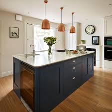 navy blue kitchen island ideas navy kitchen ideas to add an element of rich colour and