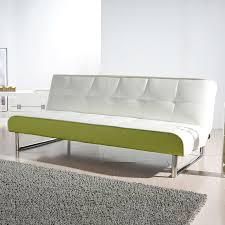 Gold Leather Sofa Shop Gold Sparrow Seattle White Lime Green Faux Leather Sofa Bed