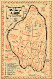 map of mackinac island mackinac island map print michiganology