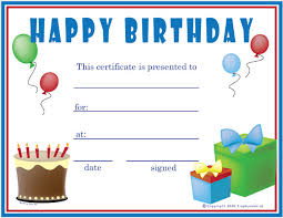 sle birthday gift certificate template sle birthday gift