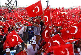 Huge Red Flag Turkey Coup March To Support Erdogan Business Insider