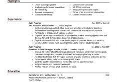 Teacher Resumes Examples by Download New Teacher Resume Haadyaooverbayresort Com