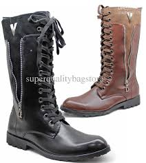 zipper boots s pointed toe s shoes knee high boots zipper lace up pu