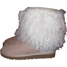 beige leather ugg ankle boots vestiaire collective