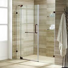 Acrylic Shower Doors by Vigo Pirouette 48 In X 72 In Frameless Pivot Shower Door With