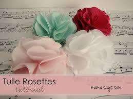 tulle flowers says sew tulle rosettes