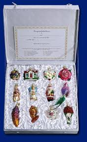 glass ornaments singles and boxed sets