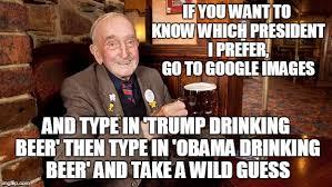 Obama Beer Meme - i m fine this is fine