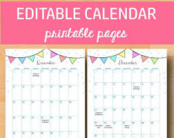 printable calendar pages printable calendar etsy