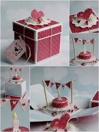 Box Birthday Cards Scrapbooking Idea For Explosion Box Pinteres