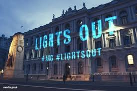 august 4th 2014 call for lights out across uk at 10pm to