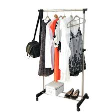 portable folding coat rack heavy duty garment rolling clothes