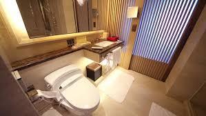 modern hotel bathroom a clean and modern bathroom inside a hotel bathroom stock footage