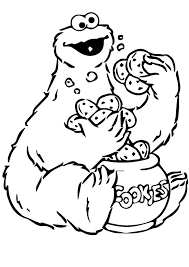 cookie monster coloring pages print coloringstar