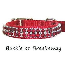 fancy pet collars decorative and bling tagged valentines day