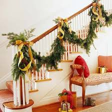 Christmas Decorations Outdoor Stairs by 122 Best Christmas Staircases Images On Pinterest Stairs