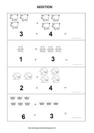 kindergarten addition and subtraction worksheets for kindergarten