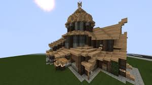rustic house with small tower creative mode minecraft java