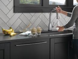 delta touchless kitchen faucet faucet com 9183t ar dst in arctic stainless by delta