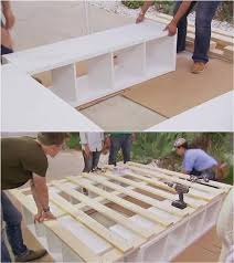 Diy Bed Frame With Storage Creative Ideas How To Build A Platform Bed With Storage