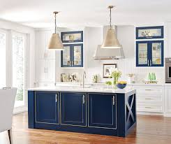 blue kitchen island and white cabinets white kitchen cabinets with blue island erigiestudio