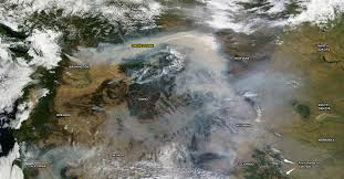 Alberta Wildfire Zones by Wildfire Smoke Drifts Across 1 000 Miles Of The West Imageo
