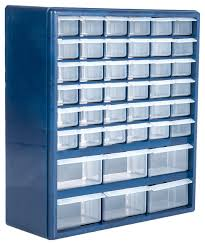 deluxe 42 drawer compartment storage box by stalwart traditional