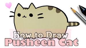 how to draw pusheen cat u2022 collab with fimokawaiiemotions youtube