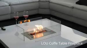 coffee table fireplace with remote control lou afire tabletop