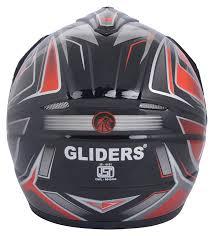motocross helmets in india gliders mc2 d5 motocross helmet with mirror visor red l amazon