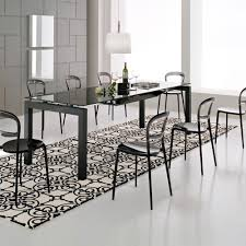 dining room modern black dining room decoration with modern round