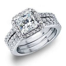 weding ring princess cut cz wedding ring ebay