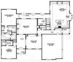 5 bedroom floor plans 1 story 654265 4 bedroom 3 5 bath house plan house plans floor plans