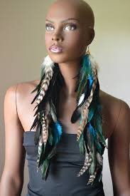 feather earrings for kids feather earrings black turquoise and grizzly