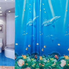 Shower Curtains With Fish Theme Http Www Sulistepup Com 71 Inch Ocean Theme Dolphin Tropical