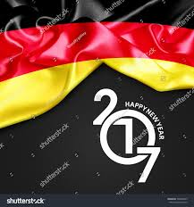 German Flag Meaning Germany Happy New Year 2017 Abstract Stock Illustration 508348825
