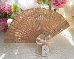 fan favors wedding fan etsy