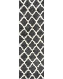 Shaggy Runner Rug Great Deals On Sweet Home Cozy Shag Collection Trellis Shaggy