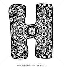 meditation mandala ornament ornamental font stock vector