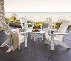 white outdoor table and chairs polywood outdoor furniture rethink outdoor