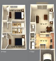 Floor Plan Of A House With Dimensions Grand At Polaris Champion Apartments