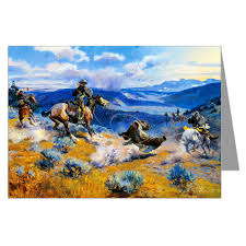 amazon com twelve assorted vintage cowboy art notecards