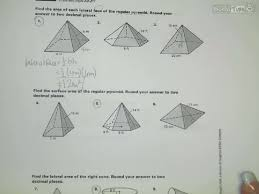 worksheet surface area of pyramids and cones laurelmacy