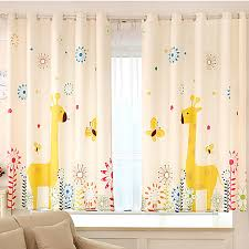 Yellow Nursery Curtains Fancy Giraffe Yellow Poly Cotton Nursery Curtains